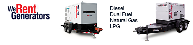 Generators For Hire Banner